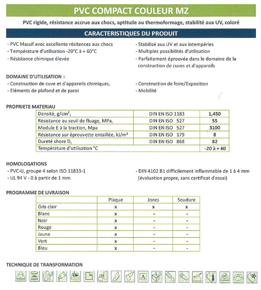 18. pvc compact COULEUR